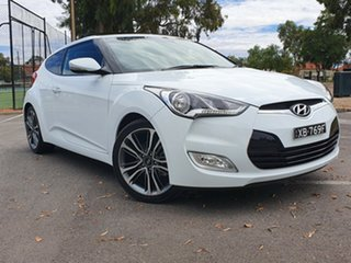 2016 Hyundai Veloster FS4 Series II Coupe D-CT White 6 Speed Sports Automatic Dual Clutch Hatchback.