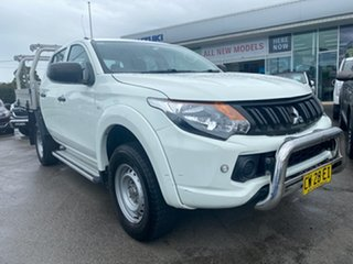 2016 Mitsubishi Triton MQ MY16 GLX Double Cab 4x2 White 6 Speed Manual Utility.