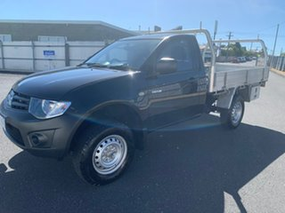 2014 Mitsubishi Triton MN MY15 GL 4x2 Black 5 Speed Manual Cab Chassis