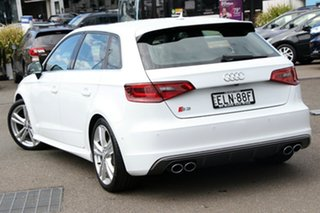 2015 Audi S3 8V MY15 Sportback S Tronic Quattro White 6 Speed Sports Automatic Dual Clutch Hatchback.