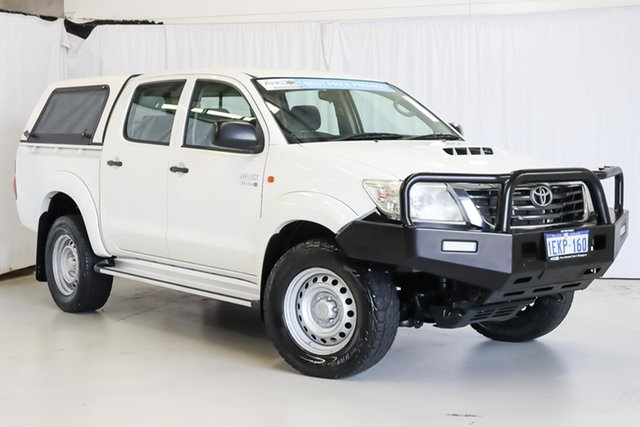 Used Toyota Hilux KUN26R MY12 SR Double Cab Wangara, 2013 Toyota Hilux KUN26R MY12 SR Double Cab White 4 Speed Automatic Utility