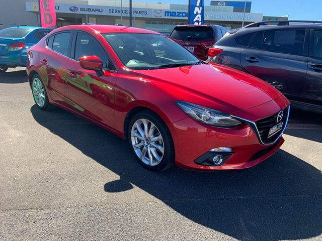 Used Mazda 3 BM5236 SP25 SKYACTIV-MT GT Warrnambool East, 2014 Mazda 3 BM5236 SP25 SKYACTIV-MT GT Red 6 Speed Manual Sedan