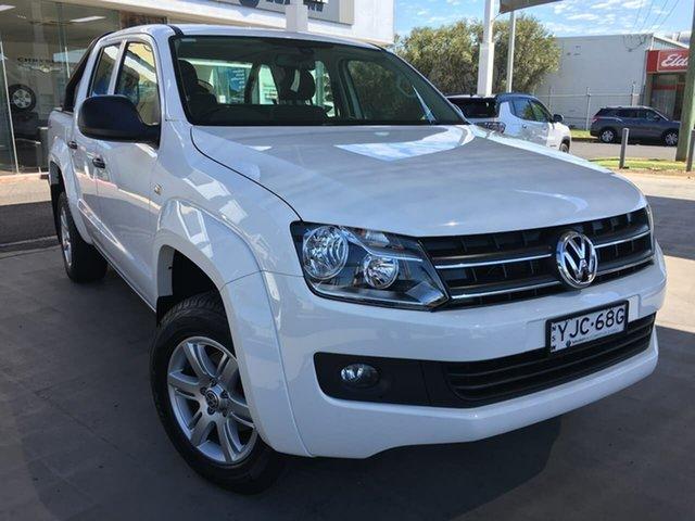 Used Volkswagen Amarok 2H Dubbo, 2016 Volkswagen Amarok 2H TDI420 Core Plus White Automatic