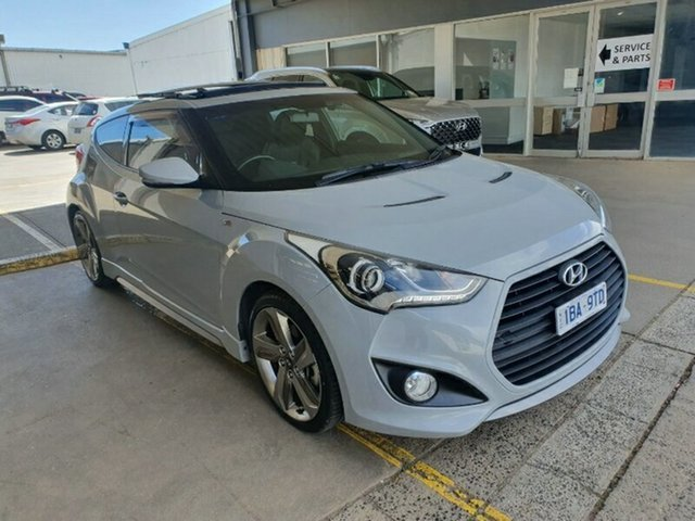 Used Hyundai Veloster FS3 SR Coupe Turbo Melton, 2014 Hyundai Veloster FS3 SR Coupe Turbo Battleship 6 Speed Sports Automatic Hatchback