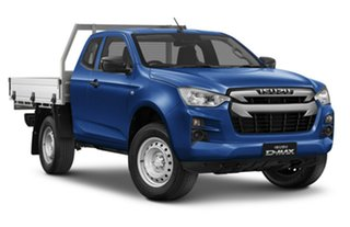 2020 Isuzu D-MAX RG MY21 SX Space Cab Cobalt Blue 6 Speed Manual Cab Chassis