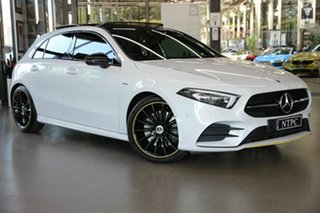 2018 Mercedes-Benz A-Class W177 A250 DCT 4MATIC AMG Line White 7 Speed Auto Sportshift Hatchback.