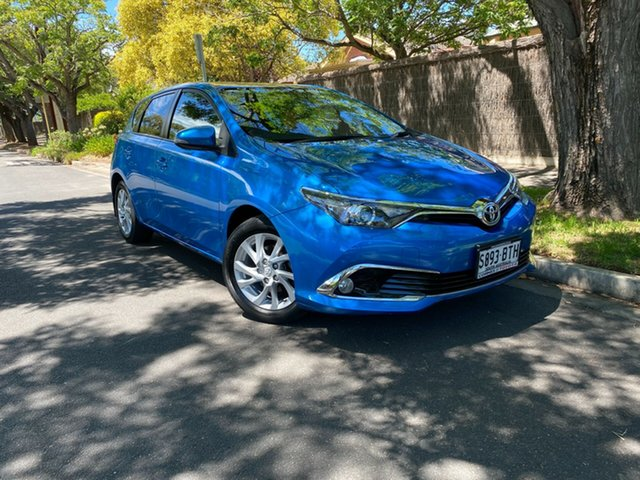 Pre-Owned Toyota Corolla ZRE182R Ascent Sport S-CVT Hawthorn, 2017 Toyota Corolla ZRE182R Ascent Sport S-CVT Blue 7 Speed Constant Variable Hatchback