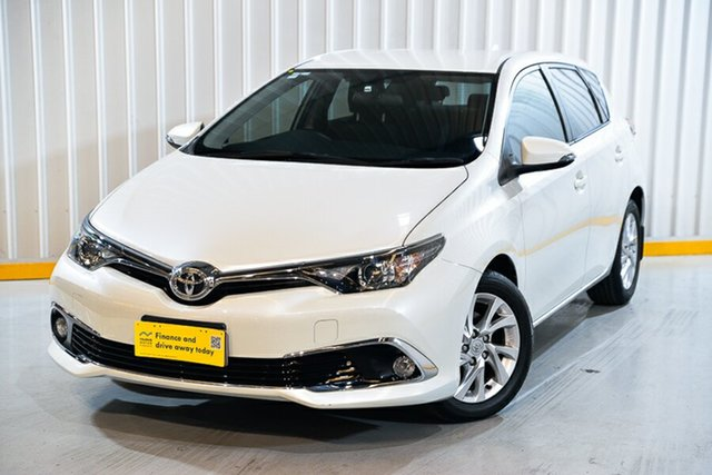Used Toyota Corolla ZRE182R Ascent Sport S-CVT Hendra, 2016 Toyota Corolla ZRE182R Ascent Sport S-CVT White 7 Speed Constant Variable Hatchback
