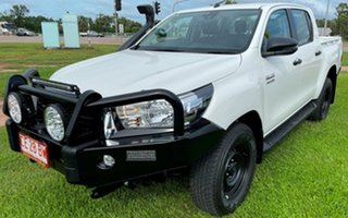 2020 Toyota Hilux GUN126R SR Double Cab White 6 Speed Sports Automatic Utility