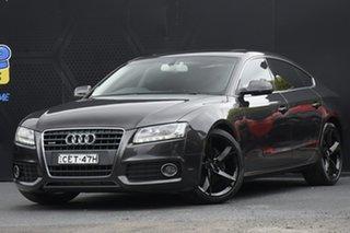 2011 Audi A5 8T MY12 Sportback S Tronic Quattro Grey 7 Speed Sports Automatic Dual Clutch Hatchback.