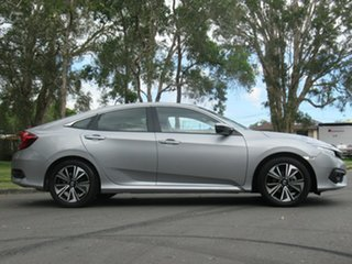 2017 Honda Civic 10th Gen MY17 VTi-LX Silver 1 Speed Constant Variable Sedan.