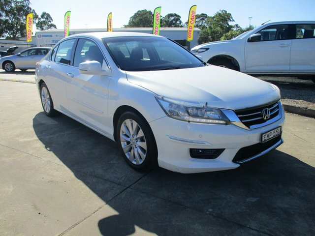 Used Honda Accord 9th Gen MY14 VTi-S Glendale, 2014 Honda Accord 9th Gen MY14 VTi-S White 5 Speed Sports Automatic Sedan