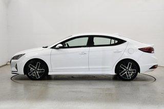 2020 Hyundai Elantra AD.2 MY20 Sport DCT Polar White 7 Speed Sports Automatic Dual Clutch Sedan.