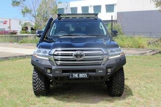 2020 Toyota Landcruiser VDJ200R Sahara Black 6 Speed Sports Automatic Wagon.