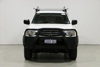 2011 Mitsubishi Triton MN MY11 GL-R (4x4) White 5 Speed Manual Double Cab Utility.