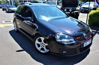 2008 Volkswagen Golf V MY08 GTI DSG Black 6 Speed Auto Sportshift Hatchback.