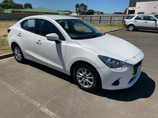 2016 Mazda 2 DL2SAA Maxx SKYACTIV-Drive White 6 Speed Sports Automatic Sedan.