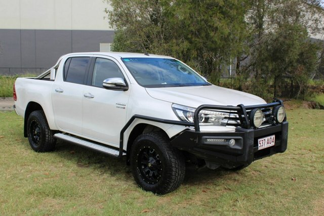 Used Toyota Hilux GUN126R SR5 Double Cab Ormeau, 2016 Toyota Hilux GUN126R SR5 Double Cab White 6 Speed Sports Automatic Utility