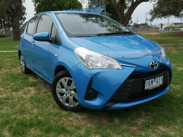 Pre-Owned Toyota Yaris NCP130R MY17 Ascent Wangaratta, 2017 Toyota Yaris NCP130R MY17 Ascent Azure Blue 4 Speed Automatic Hatchback