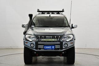 2015 Mitsubishi Triton MQ MY16 Exceed Double Cab Grey 5 Speed Sports Automatic Utility.