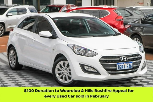Used Hyundai i30 GD4 Series II MY17 Active Attadale, 2016 Hyundai i30 GD4 Series II MY17 Active White 6 Speed Sports Automatic Hatchback