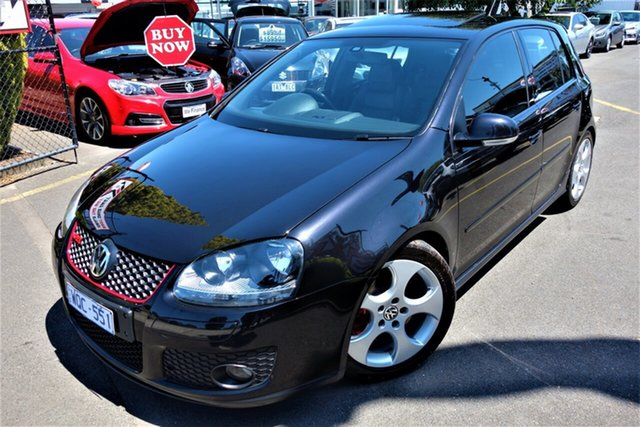 Used Volkswagen Golf V MY08 GTI DSG Seaford, 2008 Volkswagen Golf V MY08 GTI DSG Black 6 Speed Auto Sportshift Hatchback