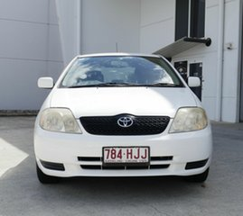 2003 Toyota Corolla ZZE122R Ascent White 4 Speed Automatic Hatchback.