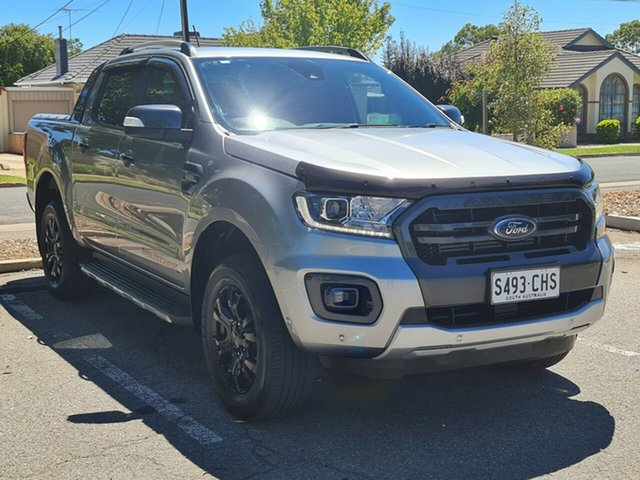 Used Ford Ranger PX MkIII 2019.75MY Wildtrak Nailsworth, 2019 Ford Ranger PX MkIII 2019.75MY Wildtrak Silver 6 Speed Sports Automatic Double Cab Pick Up