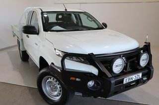 2019 Mitsubishi Triton MR MY19 GLX Club Cab White 6 Speed Manual Cab Chassis.