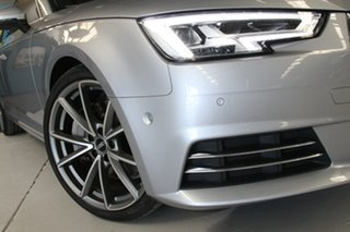 2016 Audi A4 F4 (B9) 2.0 TFSI Quattro S Tronic Spt Silver 7 Speed Auto Dual Clutch Sedan.