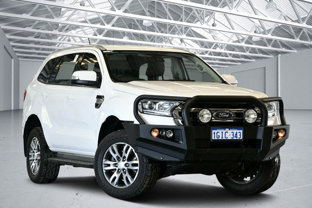 Used Ford Everest UA MY17 Trend Perth Airport, 2017 Ford Everest UA MY17 Trend Cool White 6 Speed Automatic SUV