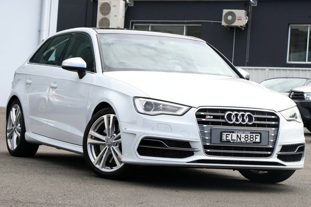 Used Audi S3 8V MY15 Sportback S Tronic Quattro Brookvale, 2015 Audi S3 8V MY15 Sportback S Tronic Quattro White 6 Speed Sports Automatic Dual Clutch Hatchback