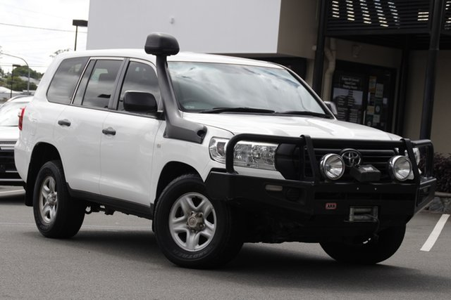 Used Toyota Landcruiser VDJ200R GX Mount Gravatt, 2016 Toyota Landcruiser VDJ200R GX White 6 Speed Sports Automatic Wagon