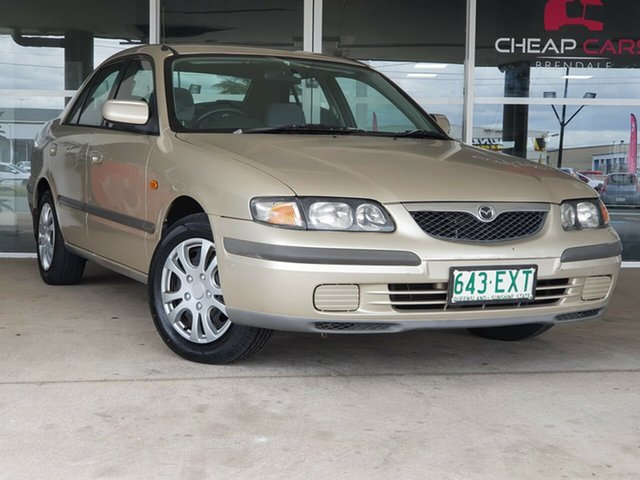 Used Mazda 626 GF Limited Brendale, 1998 Mazda 626 GF Limited Gold 4 Speed Automatic Sedan