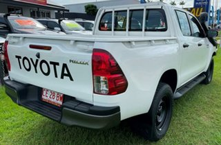 2020 Toyota Hilux GUN126R SR Double Cab White 6 Speed Sports Automatic Utility.