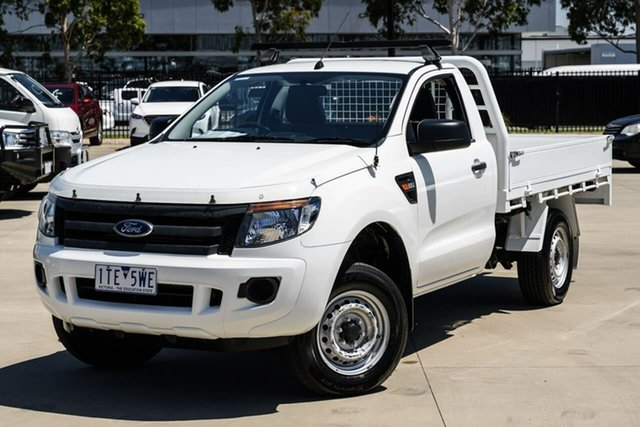 Used Ford Ranger PX XL Hi-Rider Narre Warren, 2014 Ford Ranger PX XL Hi-Rider White 6 Speed Manual Cab Chassis