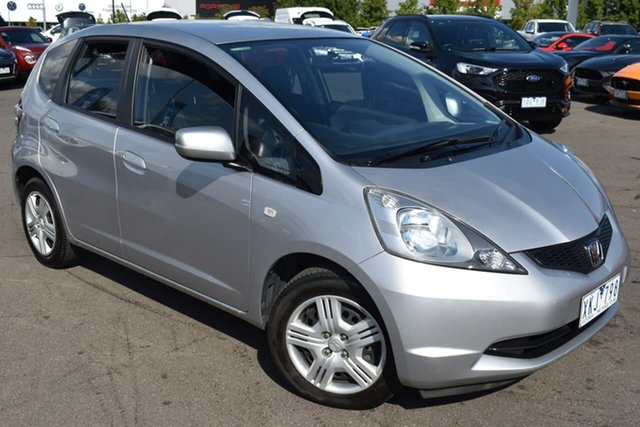 Used Honda Jazz GE MY10 GLi Essendon Fields, 2009 Honda Jazz GE MY10 GLi Silver, Chrome 5 Speed Automatic Hatchback