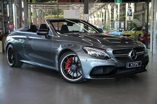 2016 Mercedes-Benz C-Class A205 C63 AMG SPEEDSHIFT MCT S Grey 7 Speed Sports Automatic Cabriolet.