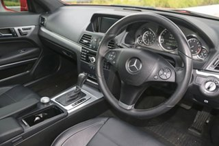 2009 Mercedes-Benz E-Class C207 E350 7G-Tronic Avantgarde Red 7 Speed Sports Automatic Coupe.