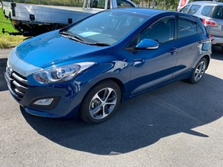 2015 Hyundai i30 GD4 Series II MY16 Active X Blue 6 Speed Sports Automatic Hatchback.