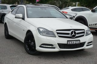 2011 Mercedes-Benz C-Class C204 C180 BlueEFFICIENCY 7G-Tronic + White 7 Speed Sports Automatic Coupe.