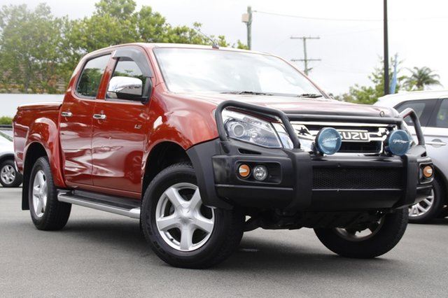 Used Isuzu D-MAX MY15 LS-U Crew Cab 4x2 High Ride Mount Gravatt, 2015 Isuzu D-MAX MY15 LS-U Crew Cab 4x2 High Ride Red 5 Speed Sports Automatic Utility