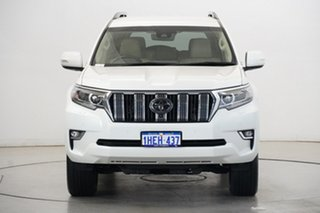 2018 Toyota Landcruiser Prado GDJ150R VX Pearl White 6 Speed Sports Automatic Wagon.