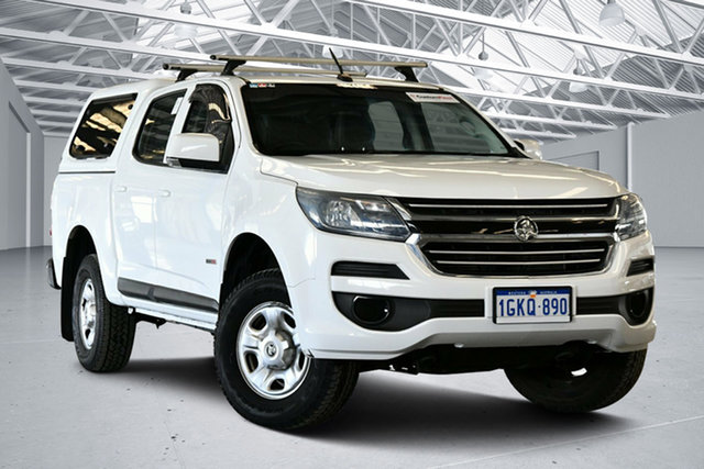 Used Holden Colorado RG MY17 LS (4x2) Perth Airport, 2017 Holden Colorado RG MY17 LS (4x2) Summit White 6 Speed Automatic Crew Cab Pickup