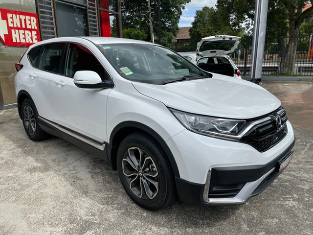Demo Honda CR-V RW MY21 VTi 4WD L AWD Hornsby, 2020 Honda CR-V RW MY21 VTi 4WD L AWD Platinum White 1 Speed Constant Variable Wagon