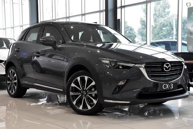 Demo Mazda CX-3 DK2W7A sTouring SKYACTIV-Drive FWD Waitara, 2020 Mazda CX-3 DK2W7A sTouring SKYACTIV-Drive FWD Grey 6 Speed Sports Automatic Wagon