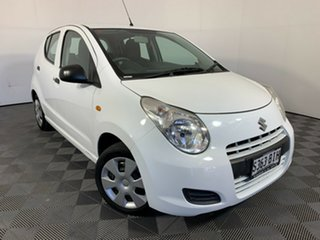 2010 Suzuki Alto GF GL Superior White 5 Speed Manual Hatchback.
