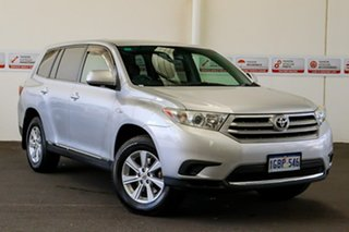 2012 Toyota Kluger GSU40R MY12 KX-R 2WD Silver Pearl 5 Speed Sports Automatic Wagon.