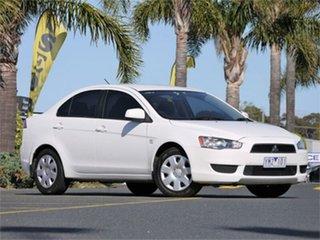 2011 Mitsubishi Lancer CJ ES White Constant Variable Sedan.