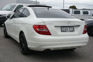 2011 Mercedes-Benz C-Class C204 C180 BlueEFFICIENCY 7G-Tronic + White 7 Speed Sports Automatic Coupe